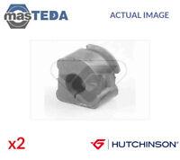 2x HUTCHINSON FRONT ANTI-ROLL BAR STABILISER BUSH KIT 590060 I NEW