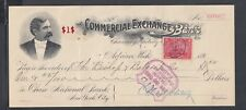 USA 1901 2C DOCUMENTARY REVENUE COMMERCIAL EXCHANGE BANK CHECK ADRIAN MICHIGAN