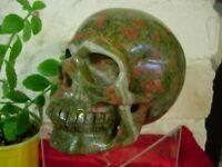Crystal skull unakite large size new stock ln3