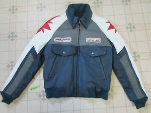 Vintage 91 Polaris Indy RXL 650 Snowmobile Jacket M Hein Gericke Leather