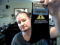 WARNING GRUMPY KIT MEN SOCKS SIZE 6-11 IDEAL SECRET SANTA FREE UK POST