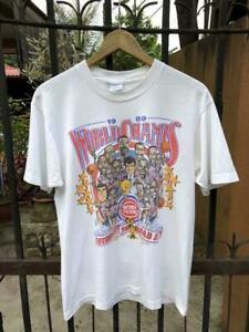 Vintage 1989 Detroit Pistons NBA World Champs T Shirt White Vintage Men Gift Tee