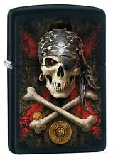 Zippo Lighter: Anne Stokes Pirate Skull - Black Matte 78819