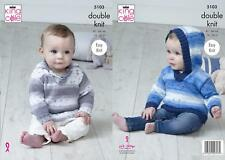 King Cole 5103 Knitting Pattern Baby Sweaters in Cottonsoft Baby Crush DK