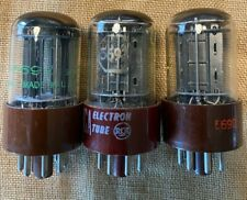 3 matched RCA Red Base 5692 (6SN7GT) Coffman Labs Tested NOS