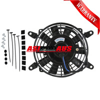 "AUS 7"" inch 12V volt Electric Cooling Fan Thermo Fan +Mounting kits"