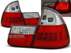 Rückleuchten für BMW 3 Series 3er E46 1999-2005 Rot Weiss LED DE LDBM28-ED XINO