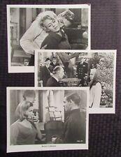 1965 MOMENT TO MOMENT Movie 8x10 Promo Stills FVF 7.0 LOT of 4 Honor Blackman