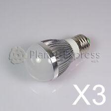 3 x Bombilla 6W LED esferica E27 Blanco Frio 220V 750 lumen -Consumo equiv.50W
