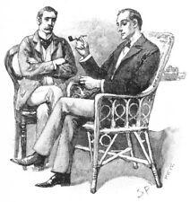 Sherlock Holmes con tubo SIDNEY Paget 1893 7x5 pollici RISTAMPA