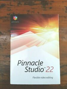 NEW AND SEALED Pinnacle Studio 22 Flexible Video Editing RETAIL BOX - SHIPS FREE