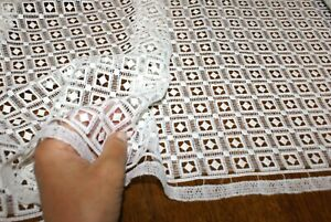 1.5m x 1.24m 'GEOMETRIC PRINCESS' IVORY WHITE LACE Fabric, Sewing Material