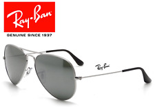 NEW Ray-Ban Aviator RB3025 W3277 SILVER Frame With SILVER MIRROR Lens Sunglasses
