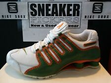 Nike Shox NZ UTT LE - 315798 381 - White / Green - Orange - Sz 11.5 - Almendares
