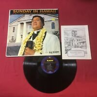 Sunday In Hawaii, Reverend Abraham Kahikina Akaka *VINYL: VG+ COPY
