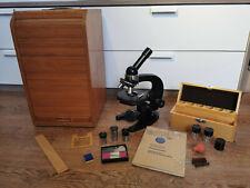 Carl Zeiss Jena - Mikroskop mit Zubehör & Holzkasten - L-Serie