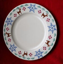 Pfaltzgraff Nordic Christmas Reindeer Snowflake Plate Stenciled Replacement