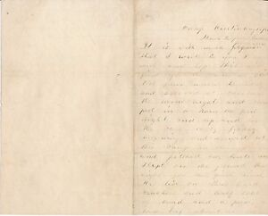 A Union Soldier Writes Home from Camp Curtin, Pennsylvania in 1862 - Civil War
