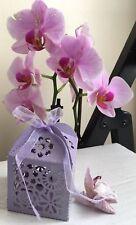 Corazón púrpura favor Caja Bolsa Boda Fiesta Joyas Regalo Sweet Candy - 8 Paquete