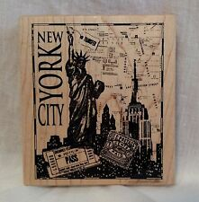 PSX K-3146 New York City Montage Statue of Liberty Skyline Empire State Building