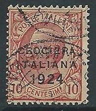 1924 REGNO USATO CROCIERA ITALIANA 10 CENT - U40-2