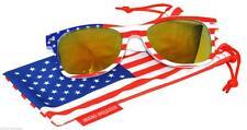 New listing Us American Flag Print Frame Red MirrorLens Retro Sunglasses patriot 4th of July