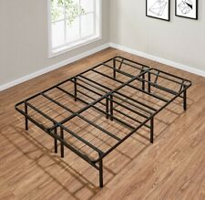 "Mainstays 14"" High Profile Foldable Steel Bed Frame, Powder-coated Steel, Full"