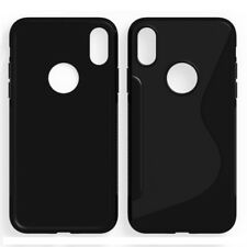 "FUNDA DE SILICONA TPU GEL S LINE PARA IPHONE X 5,8"" COLOR NEGRO NEGRA CALIDAD"