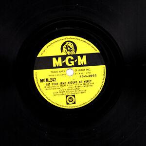 Judy Garland 78 Put Your Bras autour De Me Miel / Meet Me En Dreamland Mgm 242 E