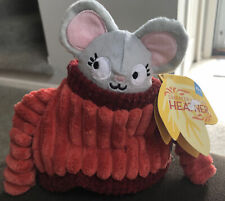 Bark Box Autumn Mouse Sweater Weather HEATHER  Crinkle Dog Toy M/l BarkBox