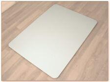 Bodenschutzmatte 120 x 90 cm Büro Stuhl Unterlage Schutz Matte weiß HMF13