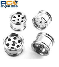 Hot Racing Losi Micro T Baja wide Silver Aluminum Wheels MCT60608