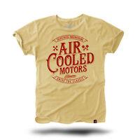 Aircooled Motors T-Shirt Beige Rot // VW Luftgekühlt Käfer Typ T1 Transporter T2