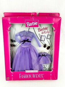 Barbie and Kelly Fashion Avenue Party Dress # 18111 matching outfit 1998 NIP