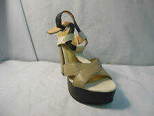 Report Light Brown and Black Platform Sandals w/ Ankle Straps Women's Size 6 M