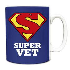 Royal Blue SUPER Vet hero novelty job title mug funny 225