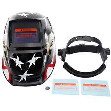 Solar/Battery Auto Darkening Welding Helmet Grinding Mask Eagle & Star + 2Baffle
