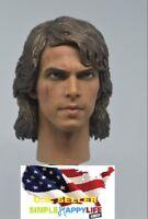 "1/6 Scale ANAKIN SKYWALKER Head Sculpt Star Wars for hot toys 12""  Figure ❶USA❶"