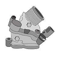 TRIDON Std Thermostat For Volvo V50  03/07-12/10 2.4L D5244T