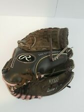 """Rawlings Fastpitch Softball Glove Mitt 11"""" Leather Youth Rt Hand Thrower FP11T"""