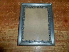 "DECOREL -- Metal Pewter Picture Photo Frame -- 7"" x 5"" -- Antique Rose Design"