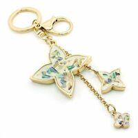 Metal Lobster Clasp Clover Charms Women Handbag Luxury Jewelry Key Chain Gold