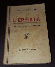 MINI LIBRO BARION - L'EREDITA' - GUY DE MAUPASSANT 1925 11/17