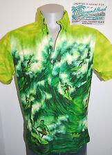vtg 60s Diamond Head Hawaiian shirt surfer aloha pipeline green pullover Makaha