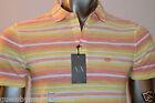 Armani Exchange A|X Men's Slim Muscle Fit Striped Cotton Polo Shirt/Top Size S M