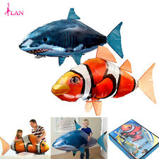 Air Flying Shark Fish Swimmer Remote Controlled RC Kids Toy Inflatable Balloon