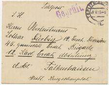 """ÖSTERREICH ORTSSTEMPEL """"TEPLITZ-SCH…"""" (Böhmen) K2 u. viol. Zensurstempel L1 1915"""