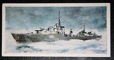 HMS ZULU    World War 2  Royal Navy Tribal Class Destroyer    Colour Card  VGC