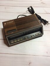 Vintage GE Alarm Clock Radio Model 7-4616A - Two Wake Times. Red Digits Works