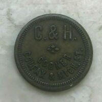C & H Good For 5 Cents 5C In Trade Token - Corner Colfax & Mich St